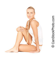 beautiful woman in cotton undrewear - picture of beautiful...