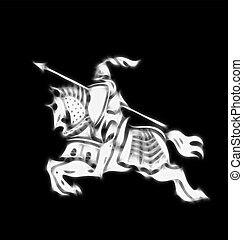 knight in armor - Abstract image of a stylised knight in...
