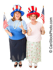 Ladies of the Tea Party - Enthusiastic American patriotic...