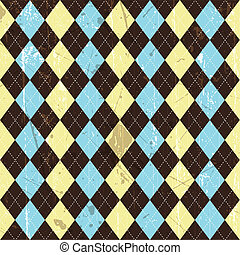 Grunge argyle background - Seamless tiled background of a...