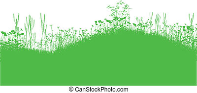 Nature Background - Nature background with silhouettes of...