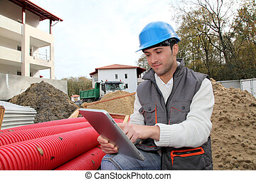 Supervisor on construction site
