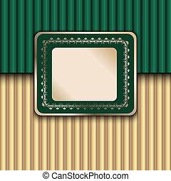 Green Vintage Template - Green Vintage Frame Design