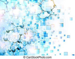 science background - molecule illustration over abstract...