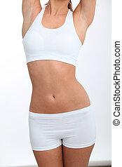 Closeup of prefect woman body