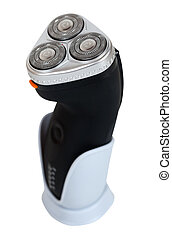 Electric shaver. Isolated  over white