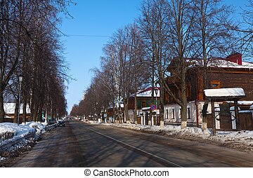 Street at Suzdal in winter
