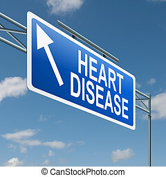 Heart disease concept - Illustration depicting a highway...
