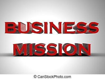 Business mission - Rendered artwork with Business mission