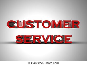 Customer service - Rendered artwork with Customer service