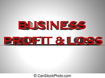 Business profit & loss - Rendered artwork with Business...