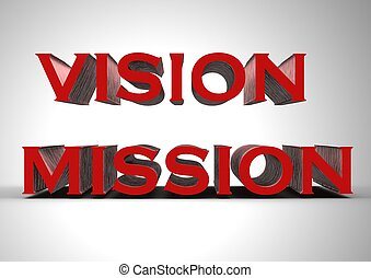 Vision mission - Rendered artwork with Vision mission