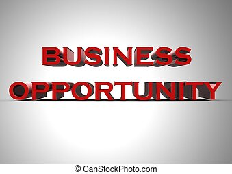 Business opportunity - Rendered artwork with Business...