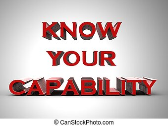 Know your capability - Rendered artwork with Know your...