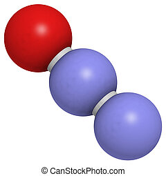 Nitrous oxide (N2O, laughing gas) - Chemical structure of...