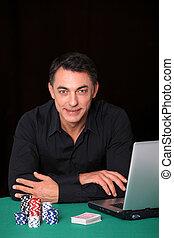 Man poker gambling on internet