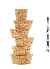 cork stopper isolated on white background