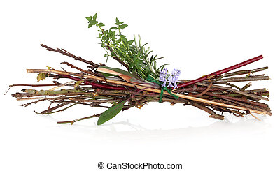 Witches Bundle - Witches bundle of herbs, twigs and rosemary...