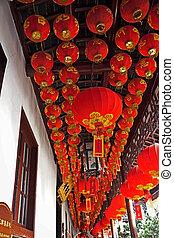 red lanterns in China