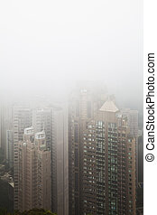 hong kong in the fog