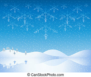 christmas background - an illustration of a cold winter...