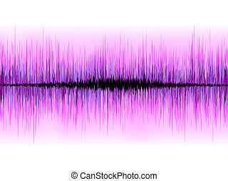 Sound waves oscillating on white background. EPS 8 vector...