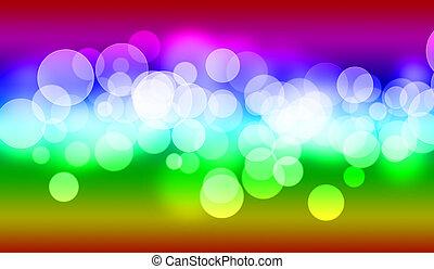 multicolored bokeh background.