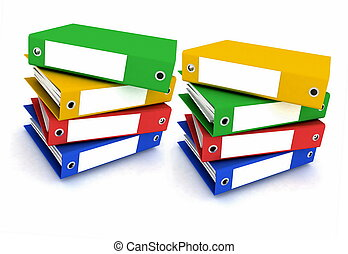 Folders for papers on a white back - Folders for papers on a...