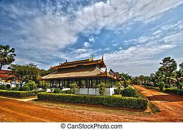 Thai palace temple in burma style HDR - Thai palace temple...