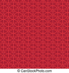 Parallelepipeds abstract vector pattern