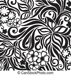 Excellent floral background - Decorative graphic curly...