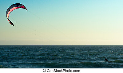 Kite Surfer - Kite surfer at Sunset Beach, California