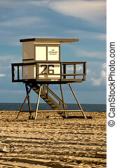 Sunset Beach Lifeguard Tower