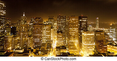aerial of San Francisco by night