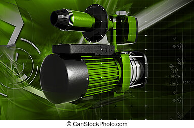 Pressure pump - Digital illustration of pressure pump in...