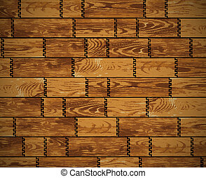 Wooden wall - vector background