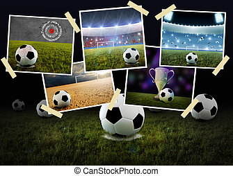 Soccer Collage - Collage of photo printing with the soccer...