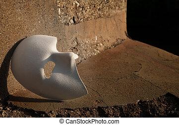 Masquerade - Phantom of the Opera Mask on Cracked Stone