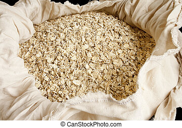 Rolled oats - Dry rolled oats in small bag