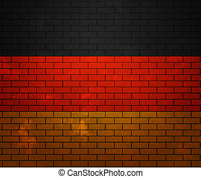 Flag of Germany on Brick Wall