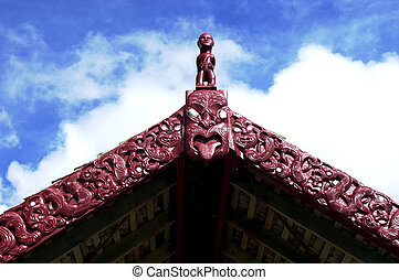 Saint Marys Maori Church at Tikitiki - Decoration at Saint...