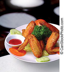 chicken wings with a background