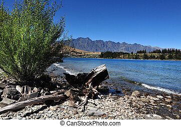 Lake Wakatipu, Queenstown, New Zealand - Lake Wakatipu is a...