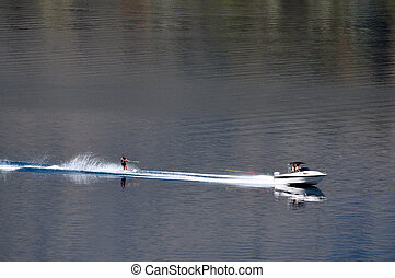 Lake Wakatipu, Queenstown, New Zealand - Lake Wakatipu is a...