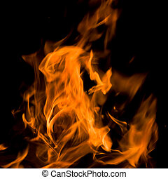 Flames. Can be used as a background.