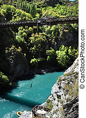 Bungy Jumping, Queenstown, NZ - Bungy jumping in Queenstown,...