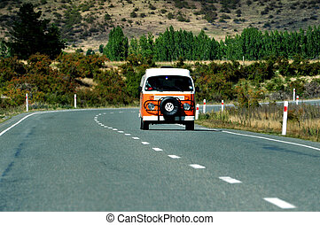 Volkswagen on Road - Volkswagen on road in south island, new...