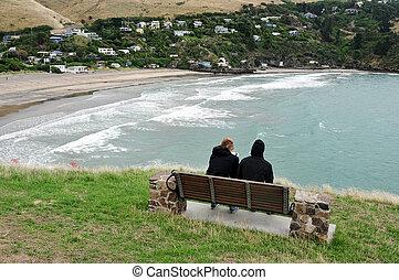 Taylors Mistake Beach - Godley Head Summit, Taylors Mistake,...