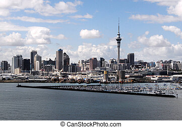 New Zealand Auckland - Auckland city center buildings, New...