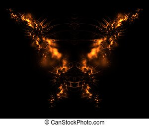 Fire Demon Abstract Fractal Design - Fire Demon abstract...